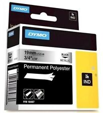 Dymo Industrial (19mm x 5.5m) Black on Metalic High Performance Permanent