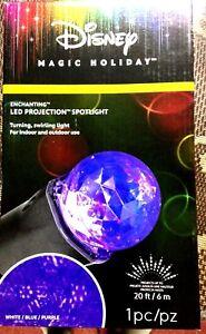 Disney Magic Holiday Enchanting Projection Reflector LED light white/blue/purple