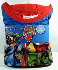 Brand New Boys Marvel AVENGERS  Flannel Pajamas 2 pc Sleepwear Size 14/16 14 16