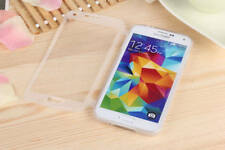 For Samsung Galaxy S5 Clear TPU Gel Soft Flip Stand Cover Protective Case White
