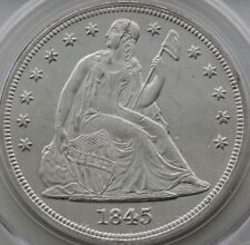 1845 Seated Liberty Dollar PCGS MS-61 (OGH)