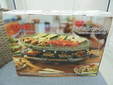 Cooks Professional Raclette Grill with Stone Plate Top NEW