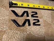 2000 Mercedes Benz S Class OEM V 12 emblems