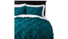 Teal Pinched Pleat Comforter Set (king) 3pc - Threshold