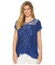 Johnny Was Embroidered Melrose Women's Top Blouse New Boho Chic C17318