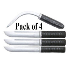 4 x Rubber Knives MMA Training Straight Flexible Bend-able Blade Movie Props