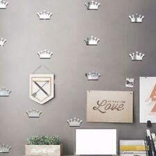 18Pcs Multicolor Removable Home Cute Crown Wall Stickers Mirror Art Room Decor G