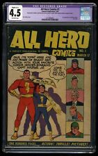 All Hero Comics #1 CGC VG+ 4.5 Off White Captain Marvel and Jr.!
