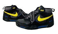 Rare Nike ACG Pyroclast Yellow Blue Black Mid Hiking Trail Fashion Boots Sz 8