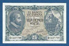 ESPAÑA // SPAIN -- 25 PESETAS ( 1940 ) -- UNC -- SERIE E -- PICK 116a .