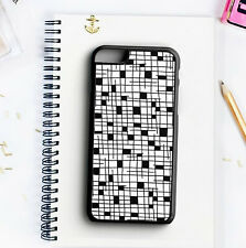 Phone Case Black & White - Rubber - Hard - Protective Back Cover For Iphone
