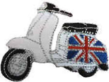 Iron On/ Sew On Embroidered Patch Badge Italian Scooter Lam Scooter Union Jack