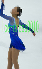 2018 new style Figure Skating Dress Ice Skating Dress Blue Dance Dress 8917