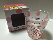 Rilakkuma Frosted Glass Cup w/ Gift Box, Kawaii, Pink Polka Dots San-X Japan New