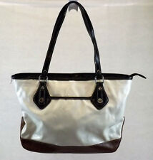 Nine Co Women S Handbag Black Cream Brown Tote Bag Vinyl Purse Large
