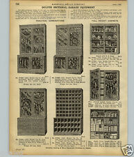 1922 PAPER AD Duluth Sectional Hardware Store Garage tool Display Cabinets Racks