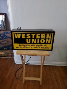 Western Union 2-Way Electric Sign