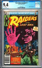 Marvel Movie Spotlight #1 CGC 9.4 WP 1982 3789512018 Raiders of the Lost Ark!