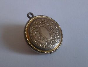 Antique / Vintage Rolled? Gold Locket Pendant RBM made in USA