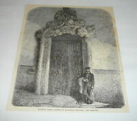 1878 magazine engraving ~ CONVENT OF ALCOBACA, PORTUGAL