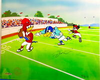 Woody Woodpecker Joe Montana Signed Cel First & Ten Rare Upper Deck Edition Cell
