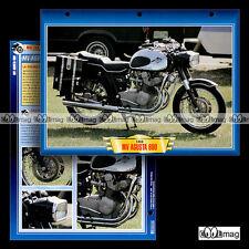 #059.06 Fiche Moto MV AGUSTA 600 1966 Motorcycle Card