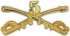 ARMY 5TH CAVALRY GOLD LAPEL HAT PIN