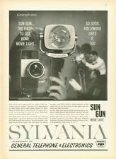 1961 Sylvania Camera Sun Gun Movie Light PRINT AD