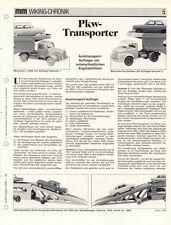 WIKING CHRONIK PKW - TRANSPORTER Auto-Transporter, von 1988