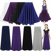 Girls' Long Maxi Skirt Praise Dance Dress Full Circle Pleated Dancewear Costume