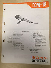 Sony Service Manual for the ECM-18 Microphone ~ Repair