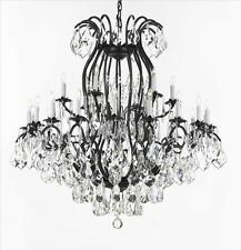 """Wrought Iron Crystal Chandeliers Lighting Empress Crystal (TM) H52"""" W46"""""""