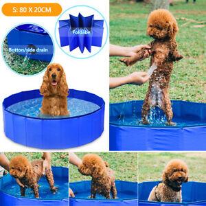 Faltbar Hundepool Planschbecken Schwimmbecken Schwimmbad Hundebad Doggy Pool DHL