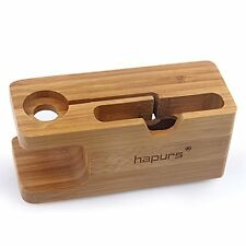 Smart Watch Cables & Chargers Apple Stand, IWatch Bamboo Wood Charging Dock For