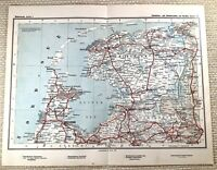 1905 Antique Railway Map of Dutch Rail Railroad Routes The Netherlands Holland