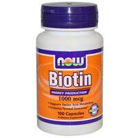 Now Foods, Biotin, 1000 mcg, 100 Capsules