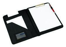 Aktenmappe Schreibmappe Dokumentenmappe schwarz mit integriertem Klemmbrett A4