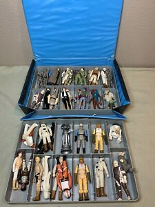 Vintage Star Wars Lot of 40 Figures, Han Solo, Boba Fett, Luke, Yoda W/ Case +