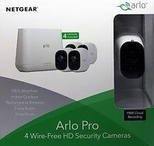 Netgear Arlo Pro vms4430 4-hd-kamera-sicherheitssystem vms4430-100eus -nuevo &