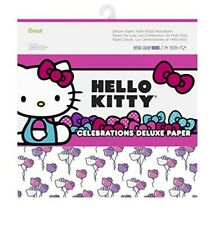 Cricut Hello Kitty Celebrations Deluxe Paper. 12 Printed Front & Solid Back.