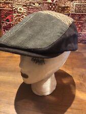 Vintage Brown woven Durby Cap Hat b83bd35c9317