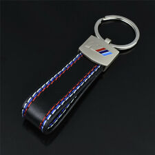 2018 New Car Leather Keyring Keychain for BMW M Sport Tech Fob Metal Ring