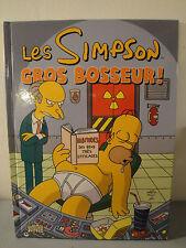 """BD Les Simpson """" Gros Bosseur """""""