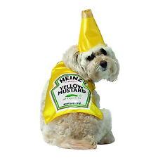 HEINZ MUSTARD CLASSIC BOTTLE HALLOWEEN COSTUME PET DOG X SMALL RASTA IMPOSTA