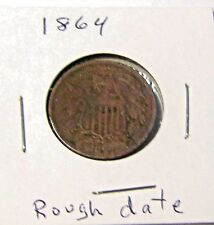 1864 U.S.A 2 CENT COIN  YOU BE THE JUDGE FOR CONDITION, ROUGH DATE, HARD TO SEE
