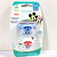 NUK Disney Baby Mickey Mouse Orthodontic Pacifier 0-6 Months BPA FREE