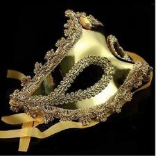 Vintage Metall Laser schneiden Phantom Maske Venedig Karneval golden Maskerade