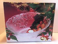 """Beautiful Mikasa Crystal Holiday Bells Oval Bowl 10"""", New in Box, Rc 197/ 259"""