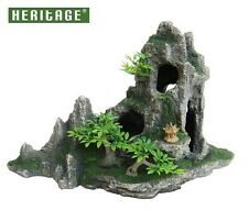 Heritage hb016 Acquario Fish Tank scalettato ROCK formazione GROTTA Ornamento 27 cm