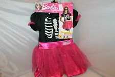 NWT BARBIE HALLOWEEN COSTUME GIRL Size:Small Rubies Pink Black Striped Pink Mask